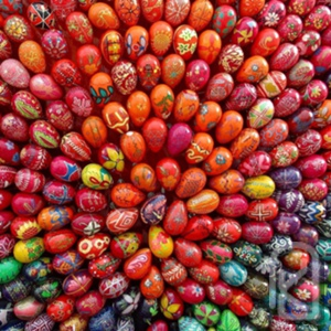 Великденския обичай на шареното яйце